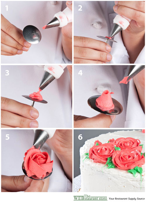 How to Pipe a Rose with Buttercream Icing