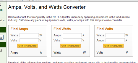 Volts To Amps Converter