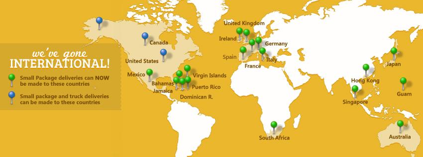 Weve Gone Global WebstaurantStore Blog – Map of Germany and England