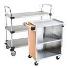 Three Shelf Solid Metal Bussing / Utility / Transport Carts
