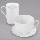 Bone China Cups, Mugs, and Saucers