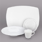 CAC Coupe Bright White Porcelain Dinnerware