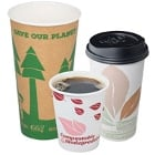 Eco-Friendly, Biodegradable Paper Hot Cups and Lids