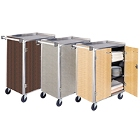 Four Shelf Solid Metal Bussing / Utility / Transport Carts