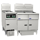 Gas Floor Fryers with Built-In Filtration System