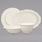 Homer Laughlin by Steelite International Carolyn Ivory (American White) China Dinnerware