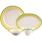 Homer Laughlin Sunflower and Shamrock Rolled Edge China Dinnerware