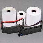 Register Receipt Paper / Credit Card Paper Rolls and Ribbon