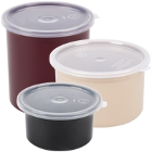 Round, Colored Food Storage Containers & Lids