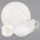 Syracuse China Cascade Ivory (American White) Flint Porcelain Dinnerware