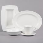 Syracuse China Elan Royal Rideau White Porcelain Dinnerware