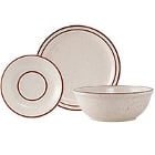 Tuxton Bahamas Narrow Rim Brown Speckle China Dinnerware