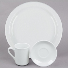 Tuxton Colorado Narrow Rim Bright White China Dinnerware