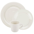 Core Wide Rim Rolled Edge Ivory (American White) China Dinnerware