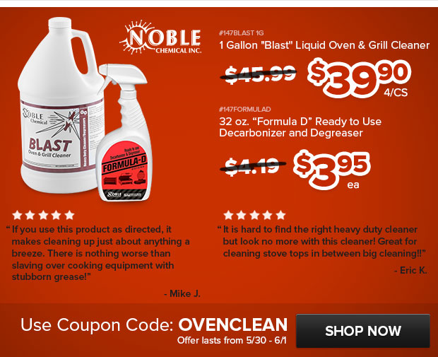 Noble Chemical Grill Cleaning Supplies