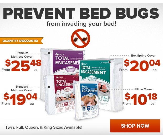 Trap Bed Bugs with our Mattress, Box Spring, and Pillow Cases