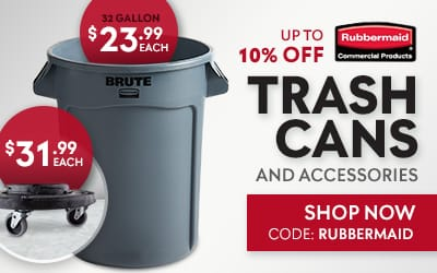 Up to 10% Off Rubbermaid Trash Cans and Accessories - Use Code: RUBBERMAID - Shop Now