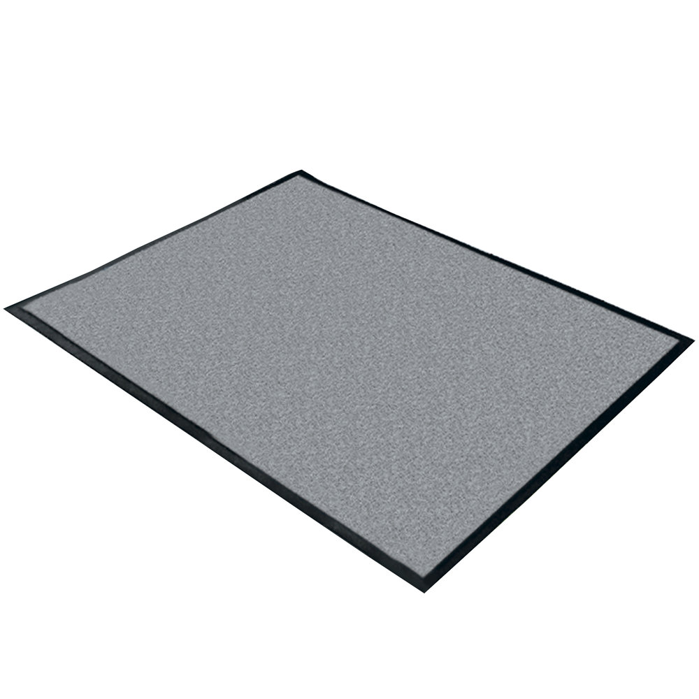 "Cactus Mat 1470M-46 4' x 6' Gray Machine Washable Rubber-Backed Carpet Mat - 3/8"" Thick"