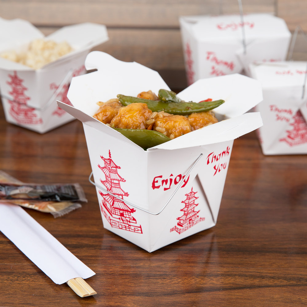 Fold pak 16whpagodm 16 oz pagoda chinese asian paper for Cuisine 2 go