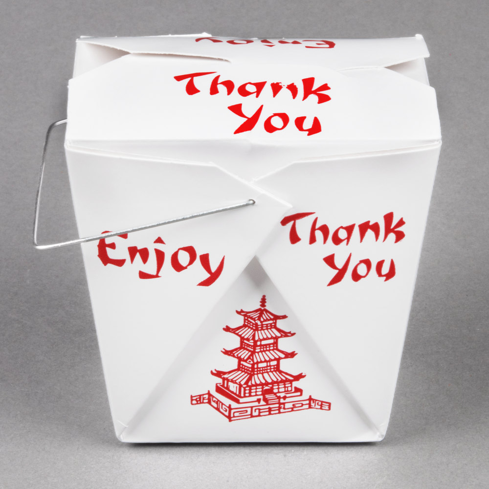f47e4ff956a Pagoda Chinese   Asian Paper Take-Out Container with Wire Handle - 500 Case