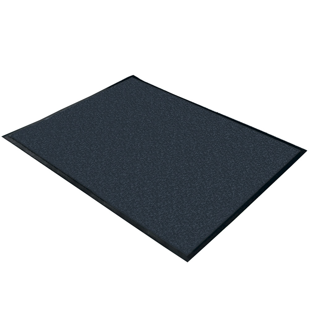 "Cactus Mat 1470M-23 2' x 3' Slate Machine Washable Rubber-Backed Carpet Mat - 3/8"" Thick"