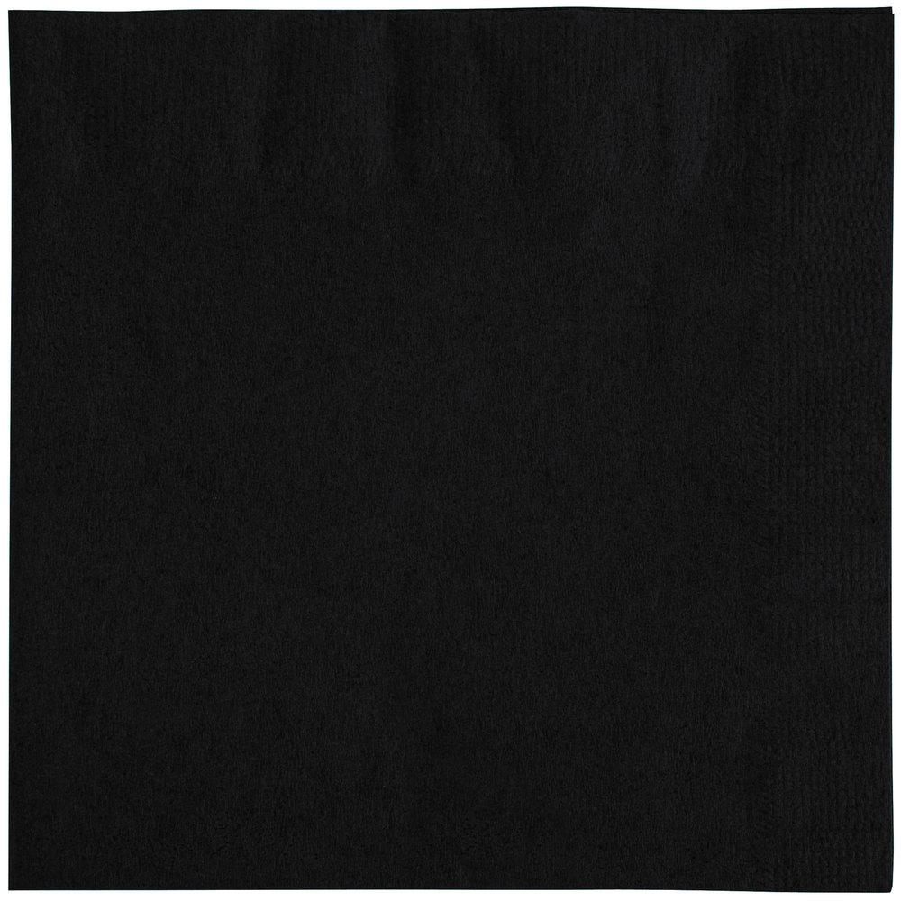 Black Cocktail Napkins : Choice quot black ply beverage cocktail napkins