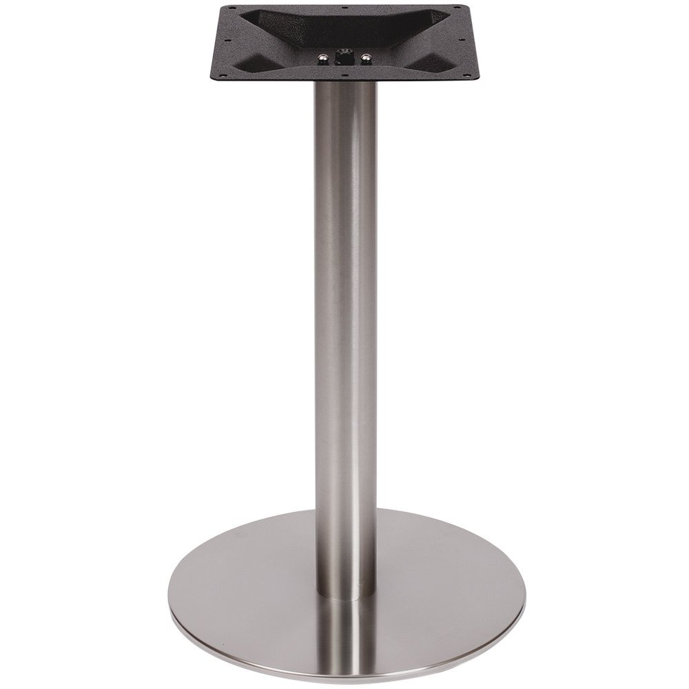 Round Stainless Base Coffee Height Tables: BFM Seating PHTB18RSS Elite Standard Height Outdoor