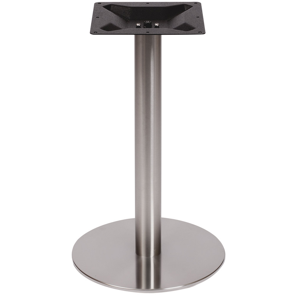 Coffee Height Round Large Table Base Round Column: BFM Seating PHTB18RSS Elite Standard Height Outdoor