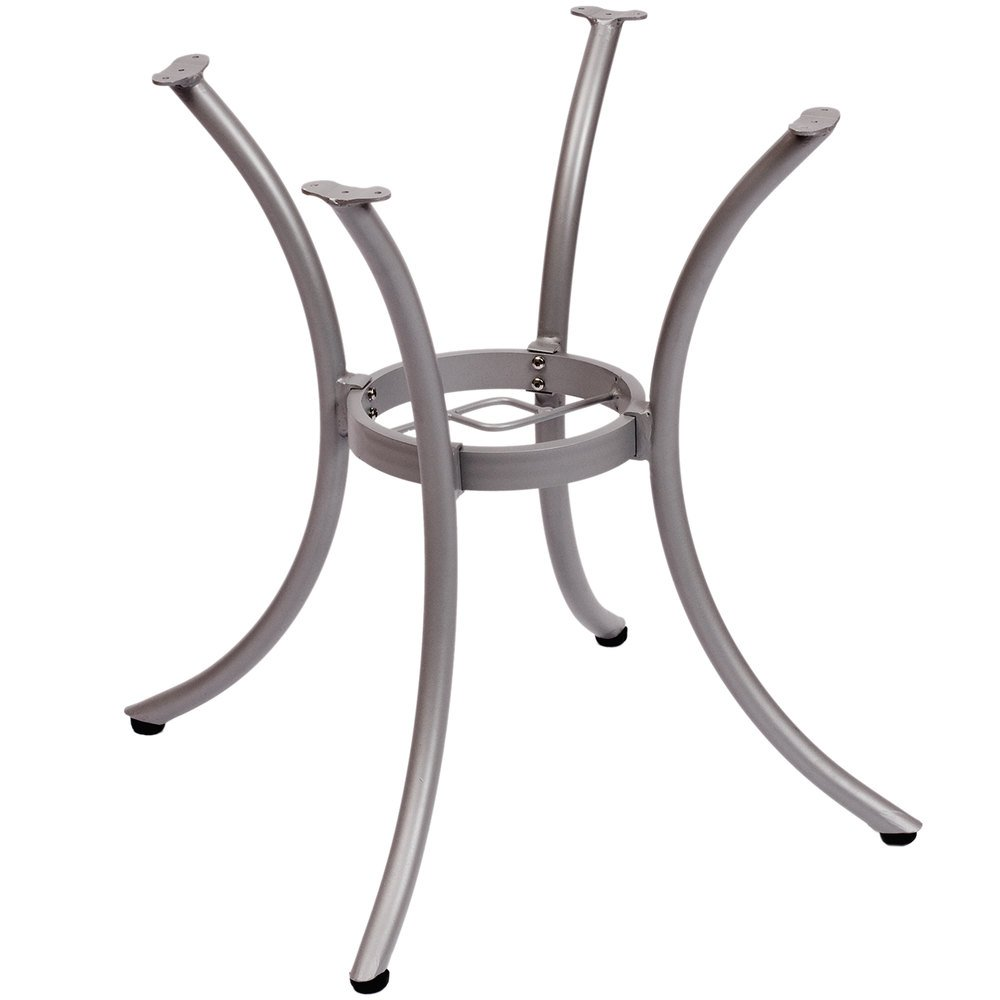 BFM Seating MSTB2626SV Martinique Standard Height Outdoor / Indoor Silver Aluminum Table Base with Umbrella Hole