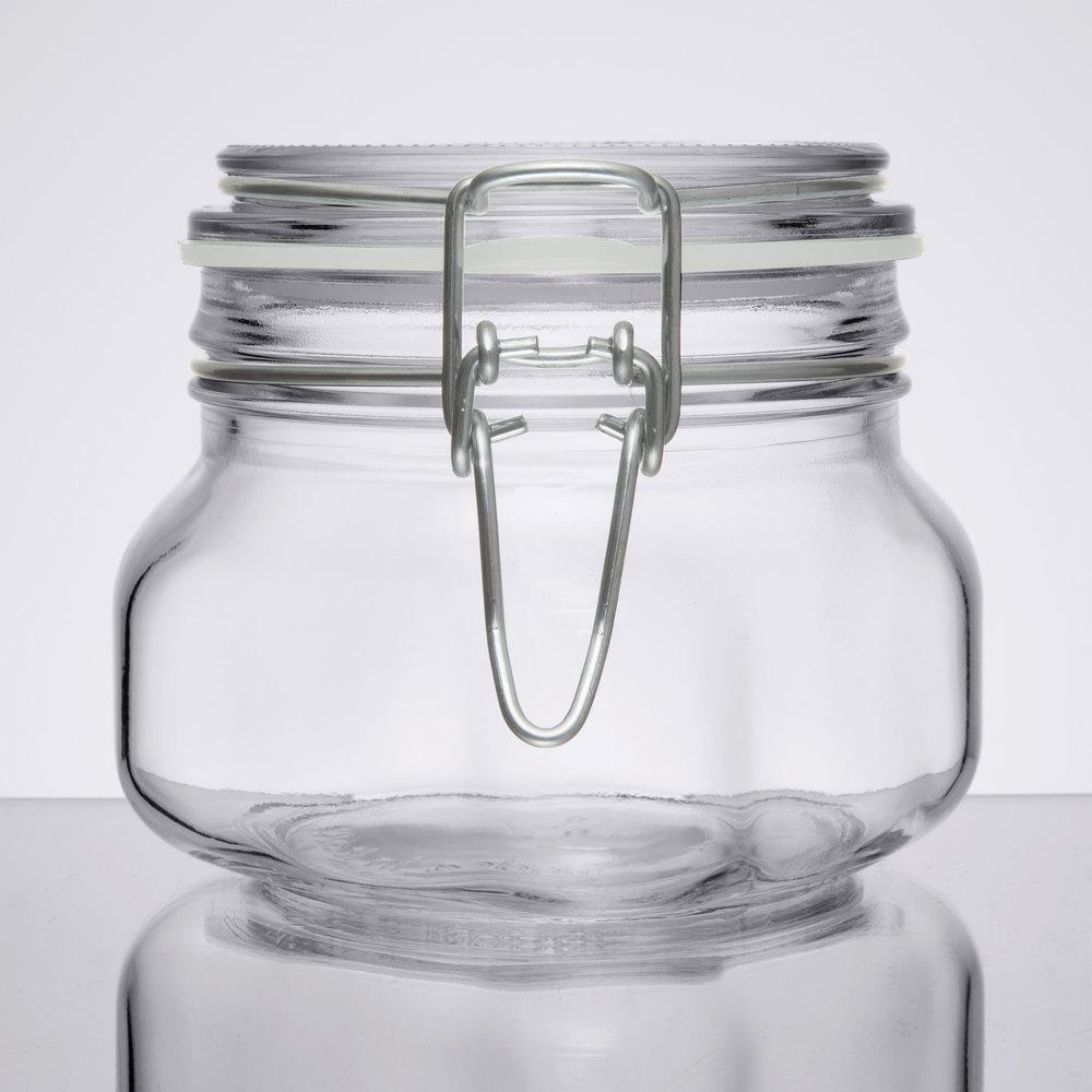 libbey 17208836 17 oz garden jar with clamp lid. Black Bedroom Furniture Sets. Home Design Ideas