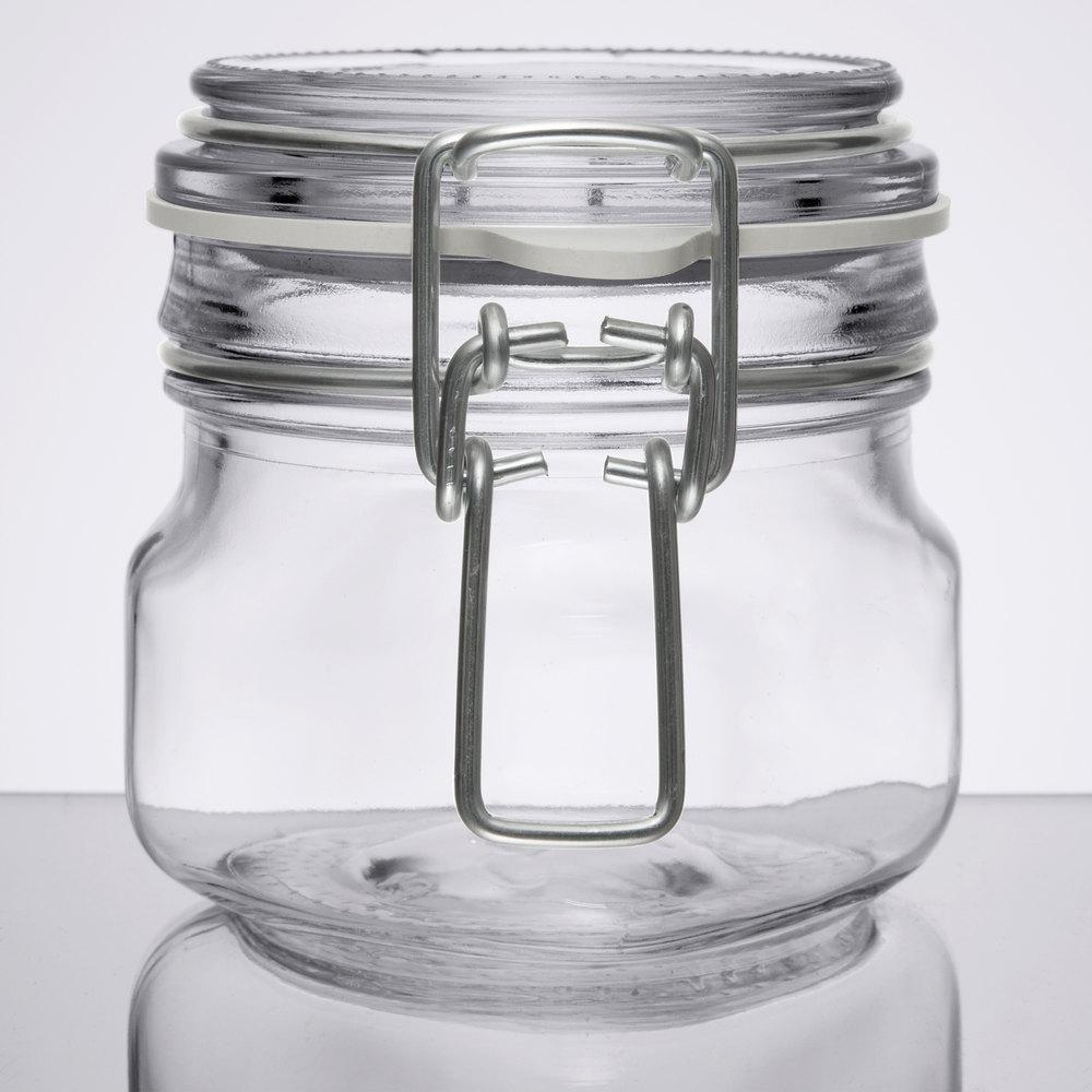 Libbey 17207223 6 75 Oz Garden Jar With Clamp Lid 6 Case