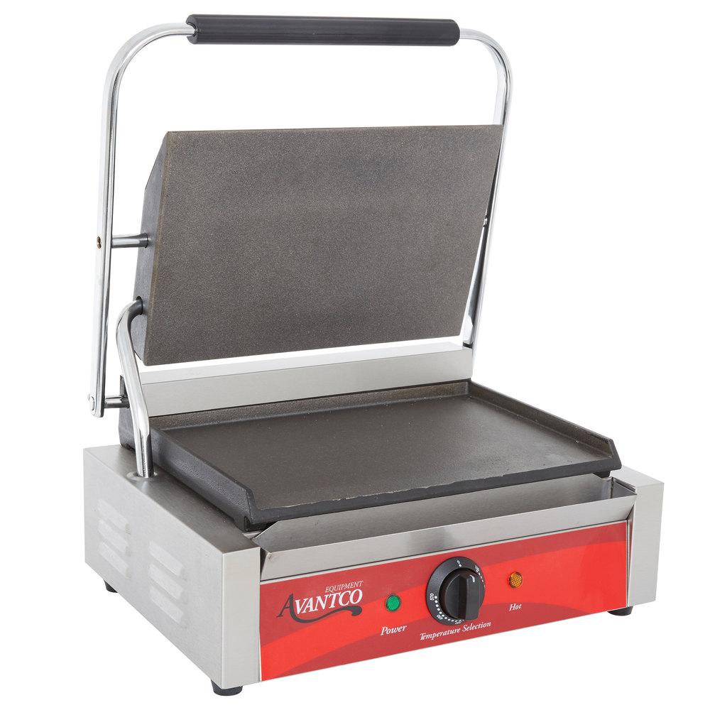 Avantco Commercial Panini Sandwich Press Grill Countertop Restaurant Equipment