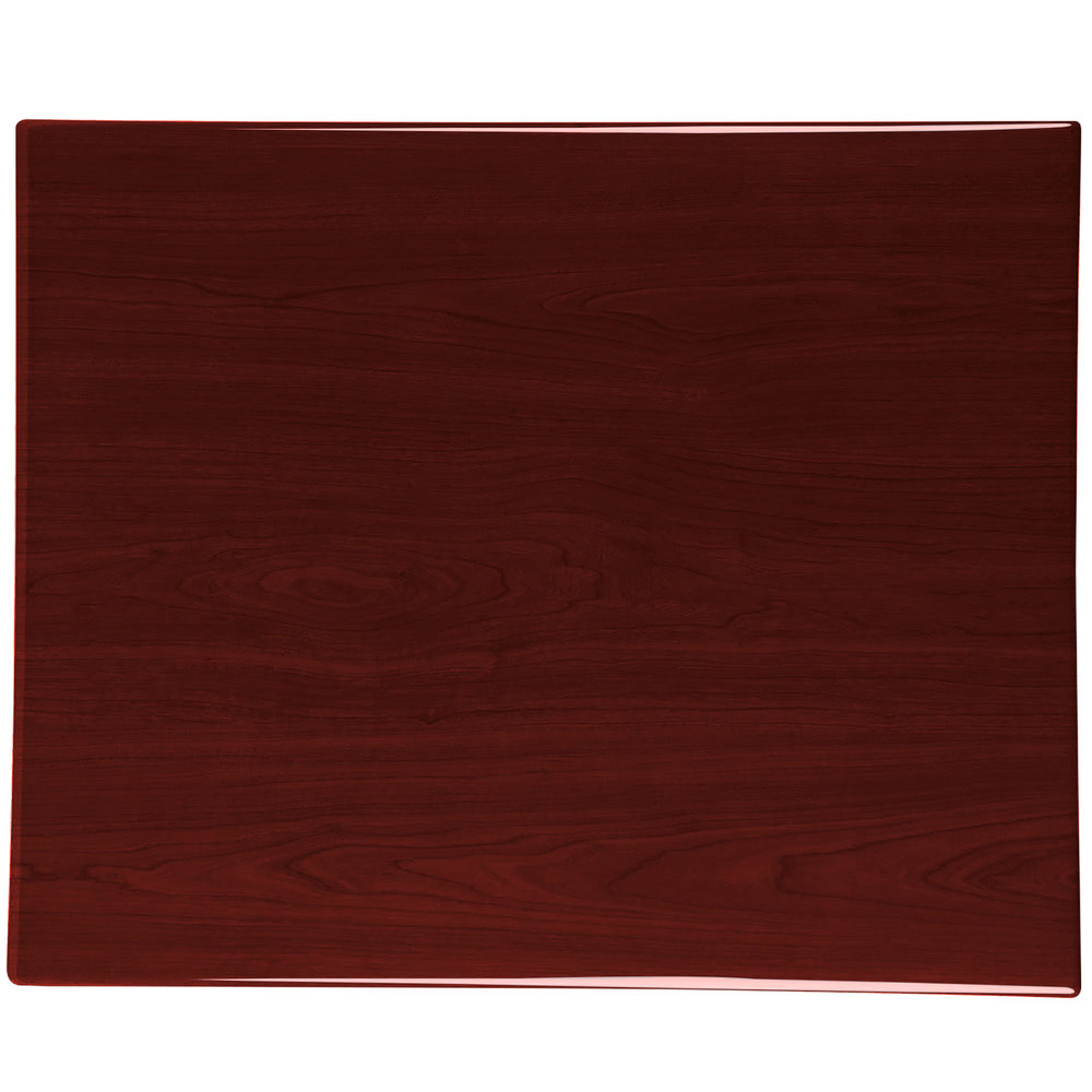 BFM Seating TTRS2430MH Resin 24 Inch X 30 Inch Rectangular Indoor Tabletop    Mahogany ...