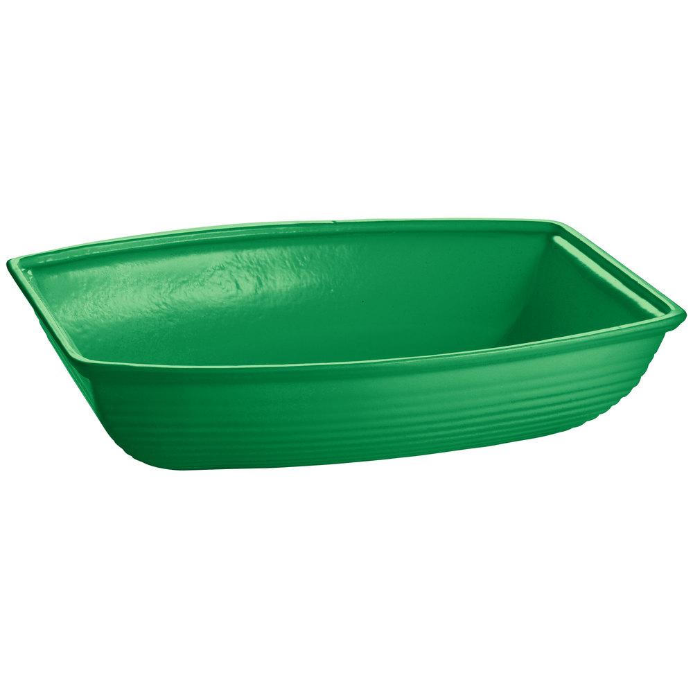 Tablecraft Cw3195gn 8 Qt Green Cast Aluminum Oblong Salad