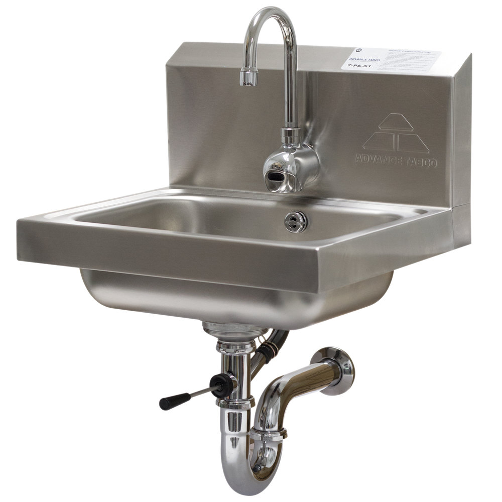 Advance Tabco 7-PS-51 Hands Free Hand Sink with Electric Faucet and ...