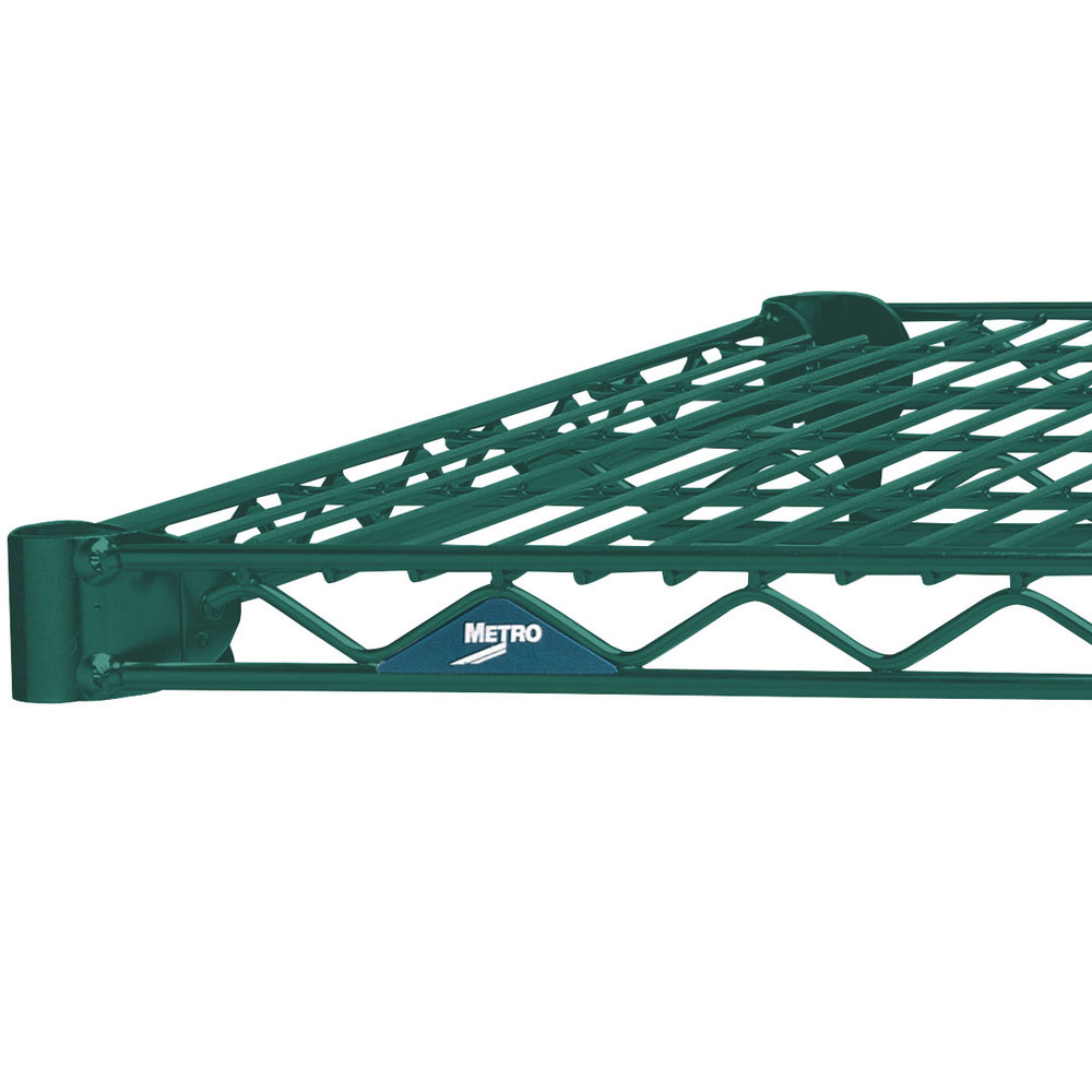 "Metro 2430N-DHG Super Erecta Hunter Green Wire Shelf - 24"" x 30"""
