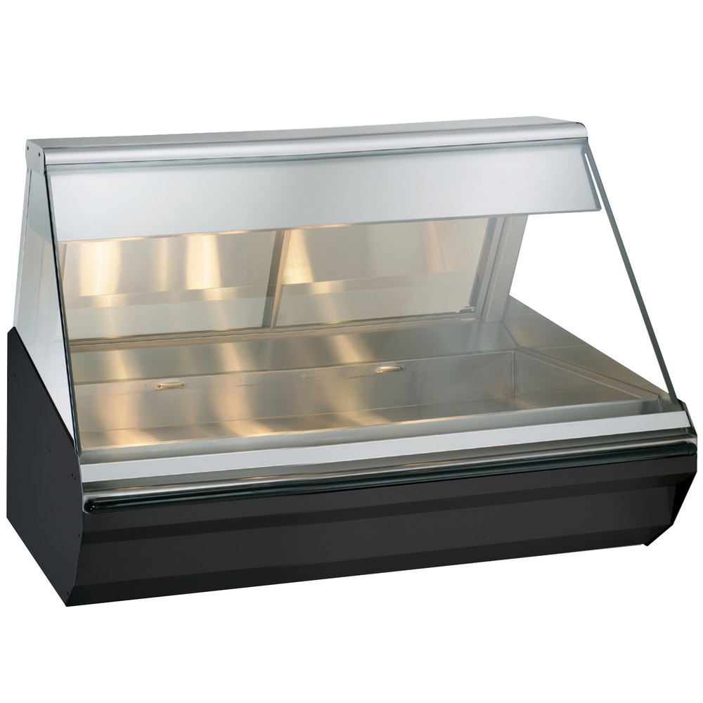Alto-Shaam EC2-48 BK Black Heated Display Case with Angled Glass - Full Service 48""