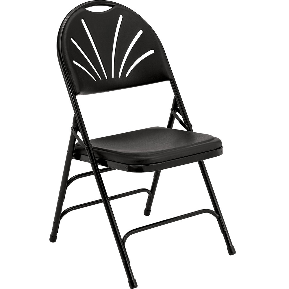 Black Metal Folding Chairs national public seating 1110 black metal folding chair with black