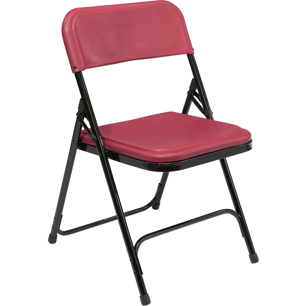 Black Metal Folding Chairs national public seating 818 black metal folding chair with