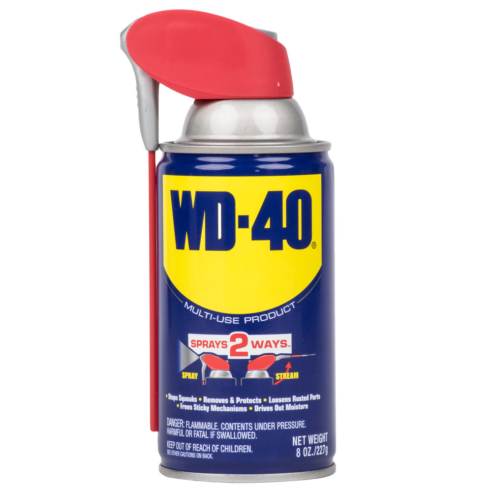 wd 40 8 oz spray lubricant with smart straw 12 case. Black Bedroom Furniture Sets. Home Design Ideas