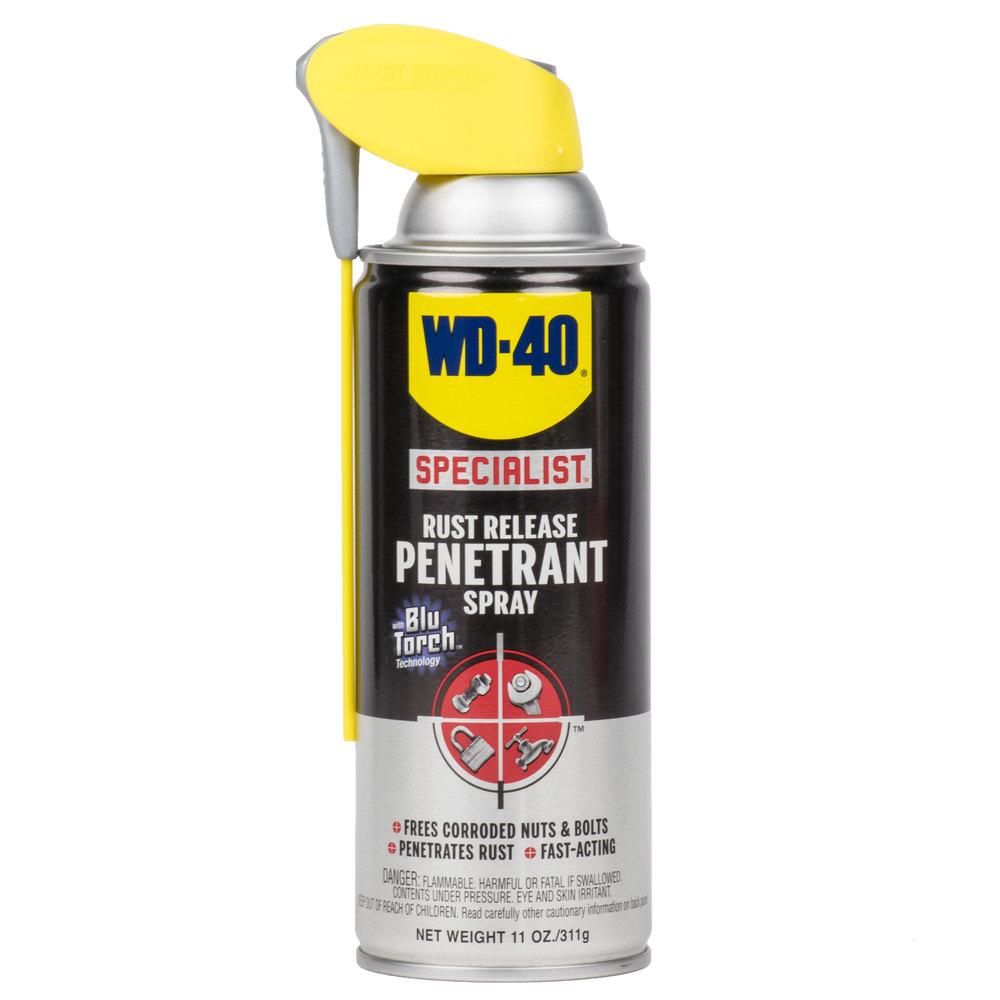 wd 40 specialist 11 oz rust release penetrant spray with smart straw. Black Bedroom Furniture Sets. Home Design Ideas