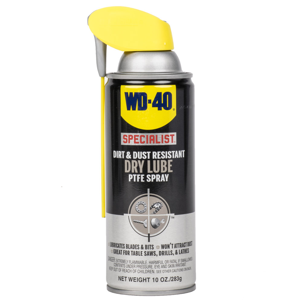 wd 40 specialist 10 oz dirt dust resistant dry lube ptfe spray. Black Bedroom Furniture Sets. Home Design Ideas