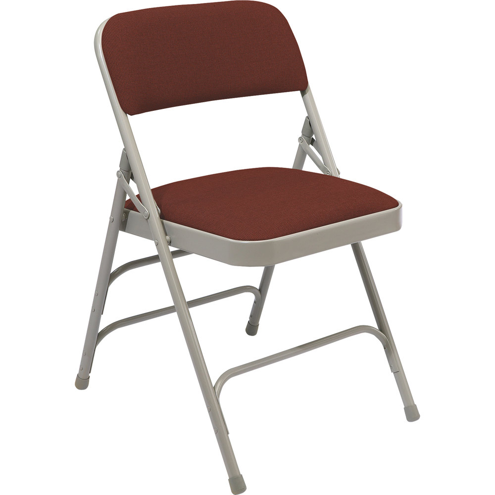 National Public Seating 2308 Gray Metal Folding Chair with 1 14