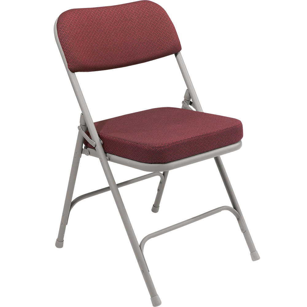 National Public Seating 3218 Gray Metal Folding Chair with ...
