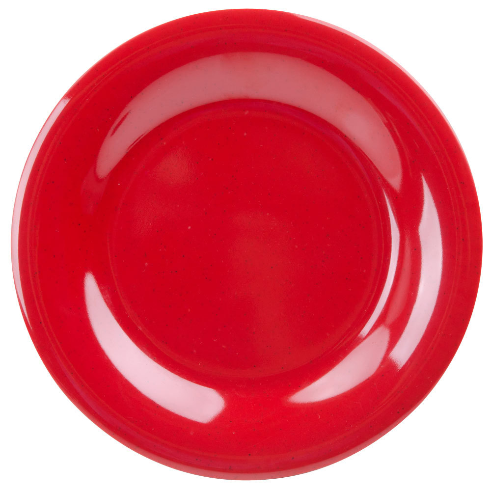 "GET WP-7-RSP Red Sensation 7 1/2"" Wide Rim Plate - 48 / Case"