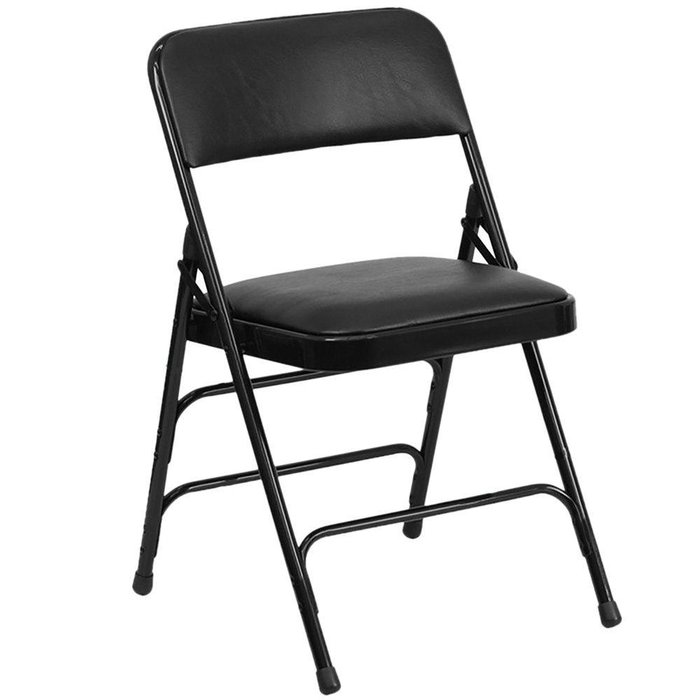 Metal Padded Folding Chairs flash furniture ha-mc309av-bk-gg black metal folding chair with 1