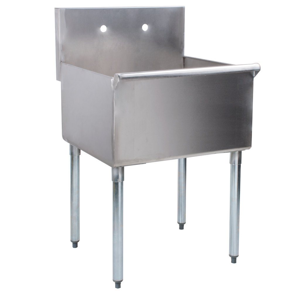 Regency 24 inch 16-Gauge Stainless Steel One Compartment Commercial Utility Sink - 24 inch x 21 inch x 14 inch Bowl