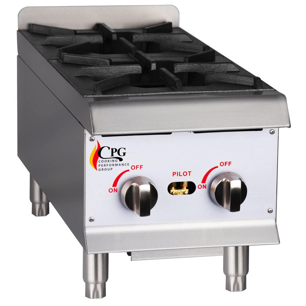 Countertop Burner : ... Performance Group HP212 2 Burner Gas Countertop Hot Plate - 44,000 BTU