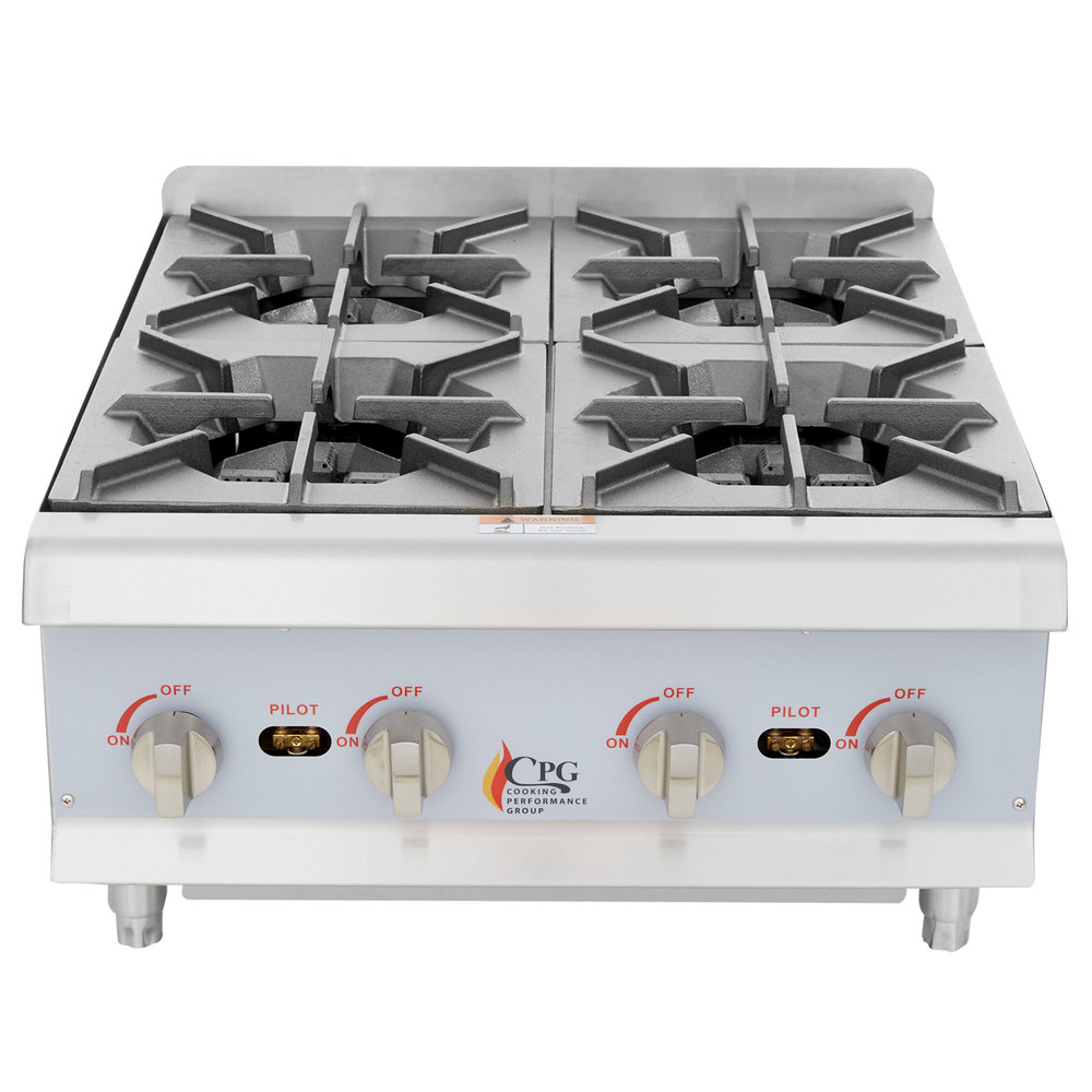 Cooking Performance Group HP424 4 Burner Gas Countertop Hot Plate ...