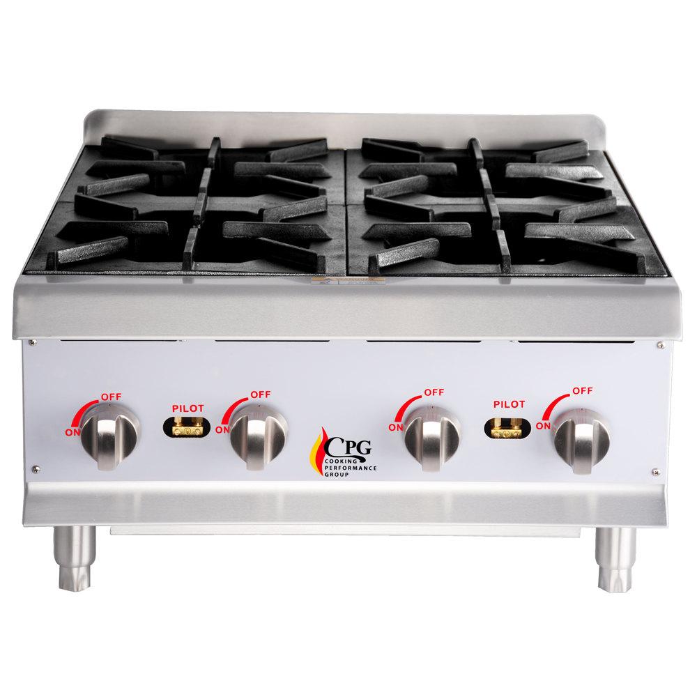 ... Performance Group HP424 4 Burner Gas Countertop Hot Plate - 88,000 BTU